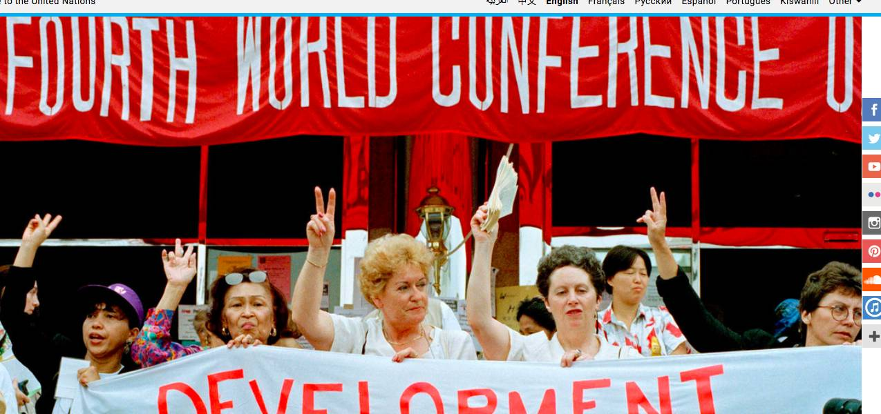 The pandemic underscores need to deliver on promise of landmark women's rights conference