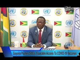 Guyana pushes SDGs, equitable access to virus vaccines